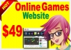 create online games website with Games