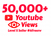 add 50,000 Youtube Views and 50 Likes