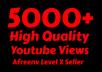 Add Super Fast 5000+ High Quality Youtube views