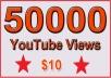 50000 Non Drop YouTube Views for $10