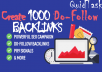 Instant 1000 Do-Follow Backlinks for any blog, website or video including DoFollow Link Juice within 24 hours