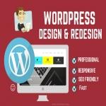 I will design or redesign wordpress full responsive website