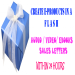 Create e-Products in A Flash.
