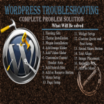 I will troubleshoot or solve all wordpress problems