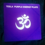 Tesla Purple Energy Healing Plate small size 15.00 with FREE Shipping