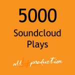 5000 Soundcloud Play for your Tracks in just 24 Hours Max Split on 4 Tracks MEGA EXPRESS SERVICE