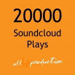 AMAZING 20.000 Soundcloud Plays in just 24 Hours Max Split on 4 Tracks MEGA EXPRESS SERVICE