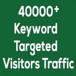 Over 40000 KEYWORD targeted Website visitors TRAFFIC
