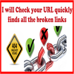Check your page quickly finds all the broken links