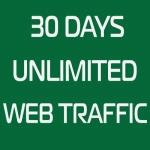 30 Days Unlimited Real Traffic By Social Platform to Website