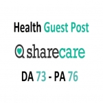 Will write and publish health article on SHARECARE with backlink