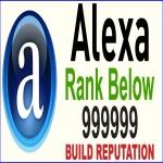 Global Alexa rank below 999,999 in 30 Days - MONEY BACK GUARANTEE