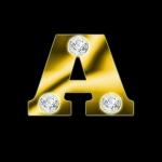 AMAZINGLY DESIGNS 24 CARAT DIAMOND GOLD TEXTURIZED ALPHABETS MULTI-USE