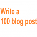 Write a 100 word blog post within few days