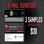 3 Email Signature design
