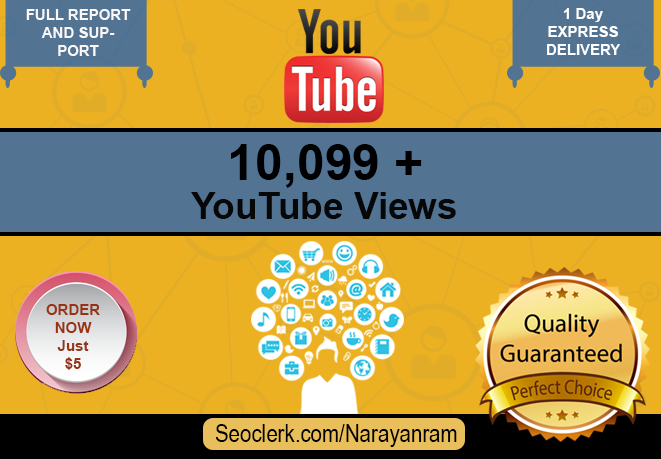 10099 to 11099+ Fast YouTube Views Only for $5