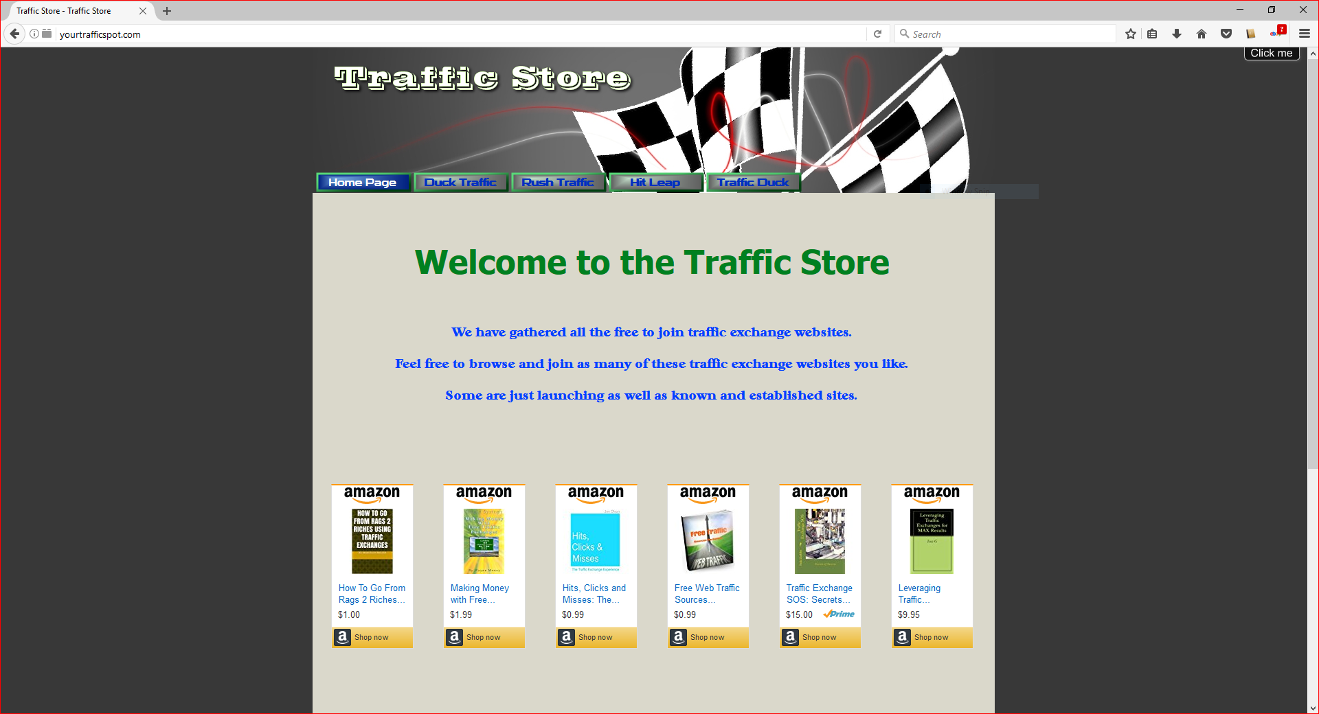 Traffic exchange website partner