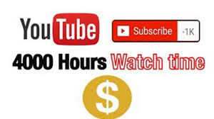 i need 4000 hour  watch youtube to 3 channel