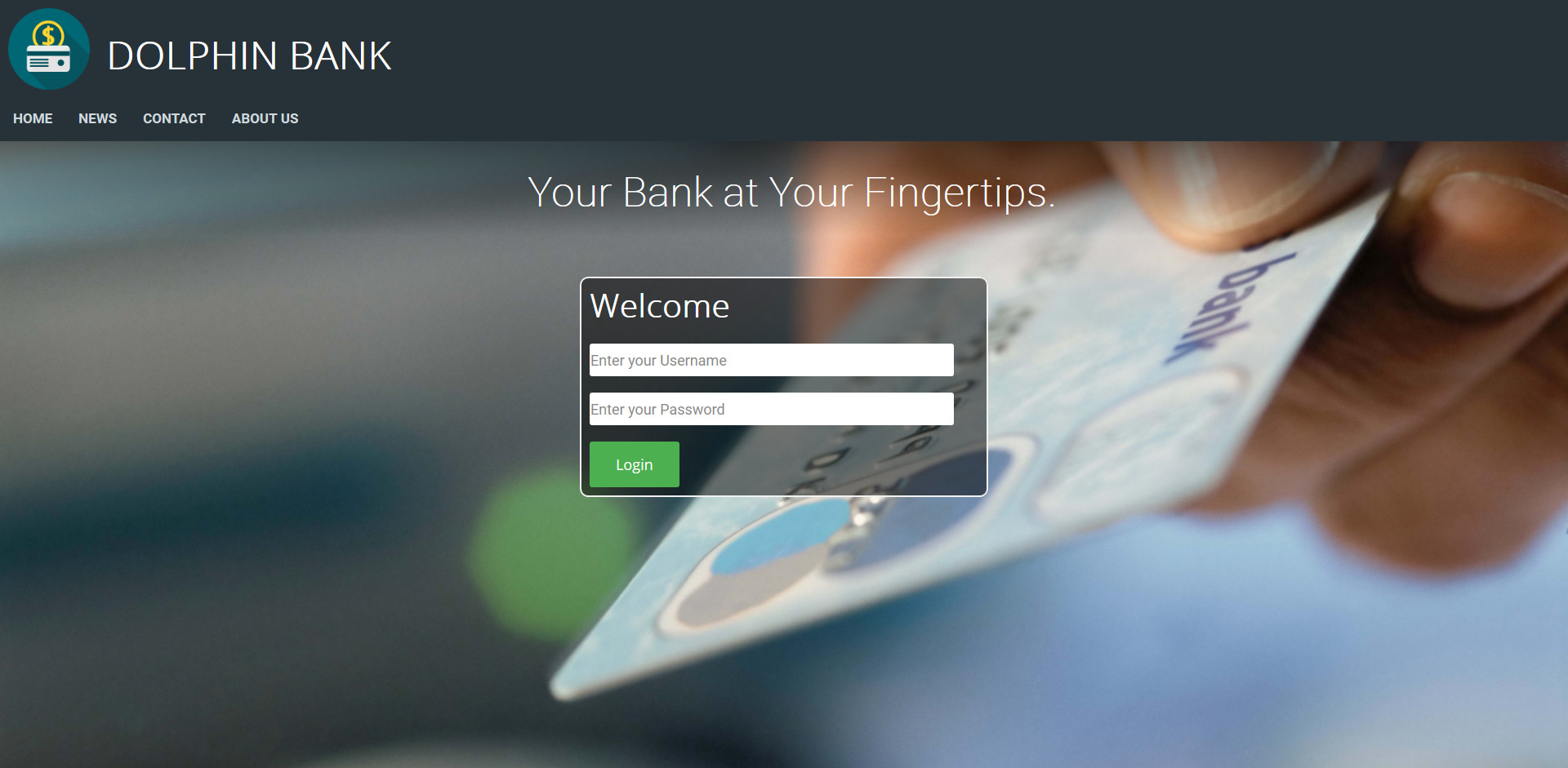 I need an Editable  Bank Script with Frontend