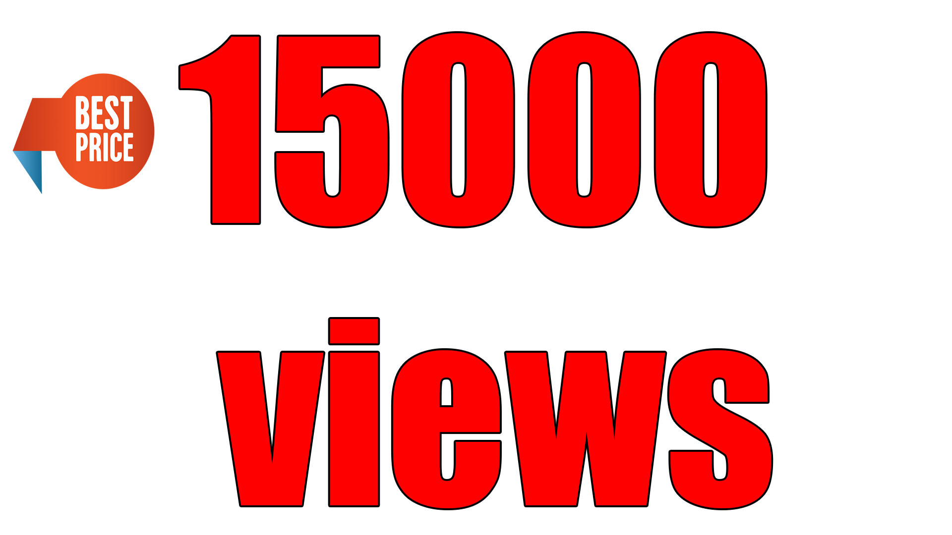 I will deliver to you 15000 youtube views. The best price!