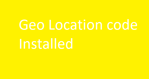 Geo Location Redirect