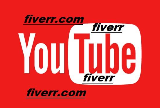 need 1000   youtube viws
