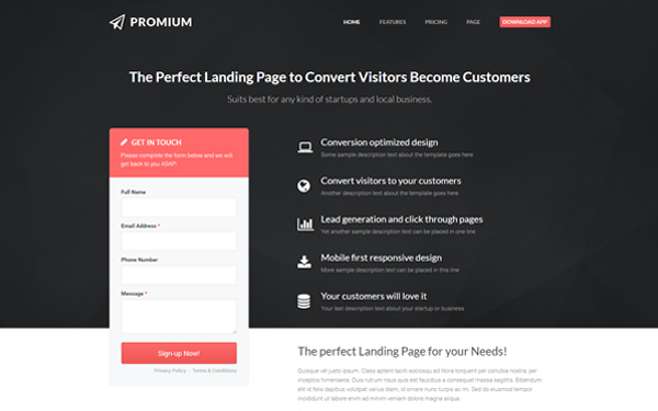 create a landing a page for a product in affiliate marketing