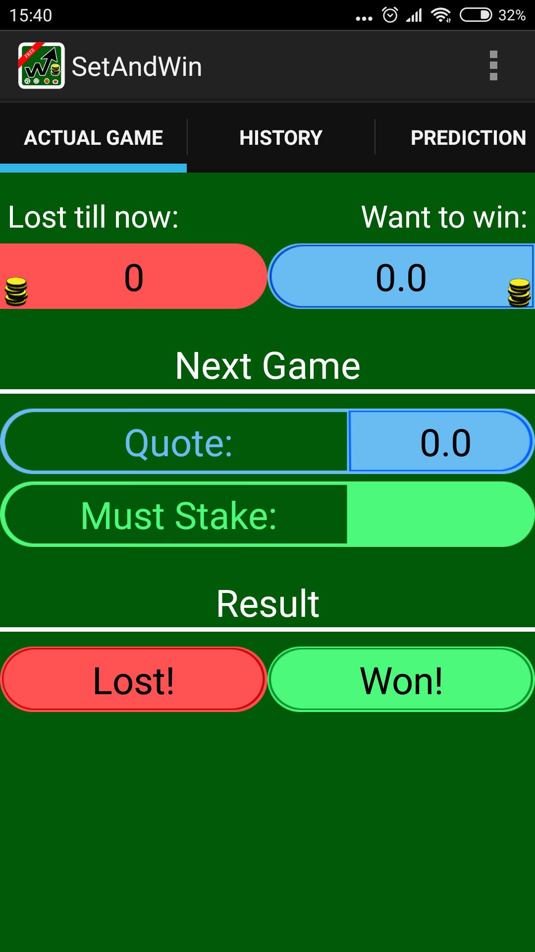 Betting calculator working offline