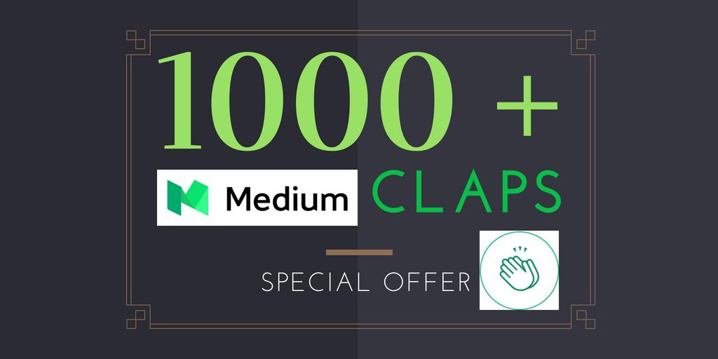 100+ Medium Claps on your Medium Article medium upvote