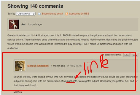 Need to provide LOTS of quality BLOG COMMENTS